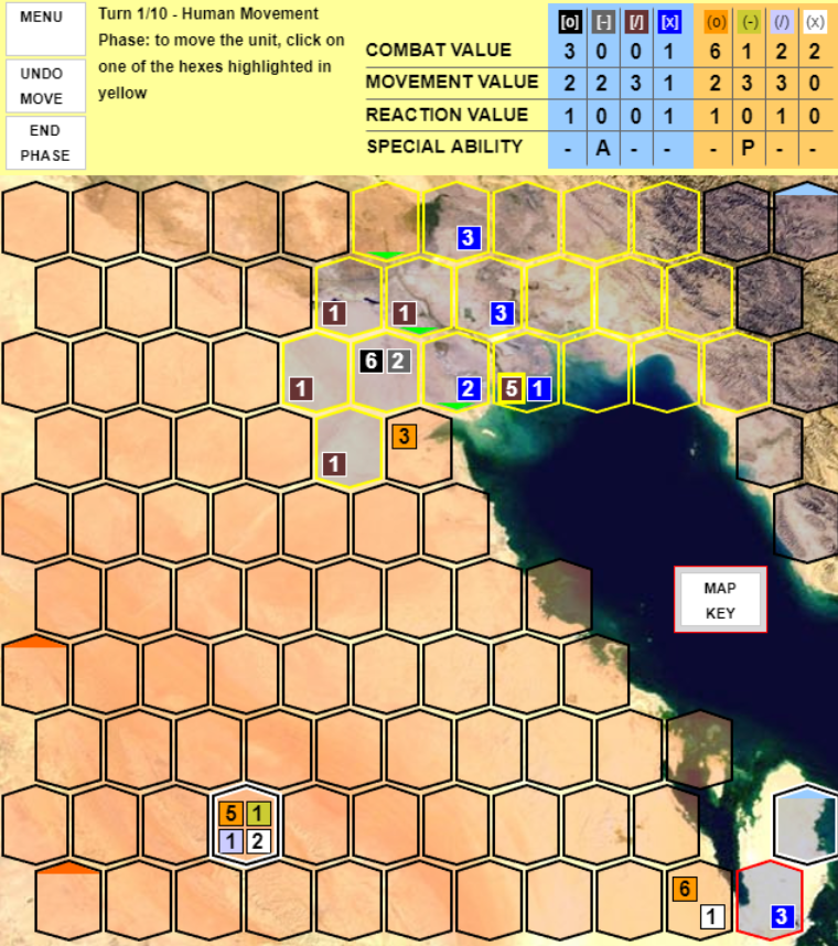 A turn based strategy game that simulates a war between Iran and Saudi Arabia over Qatar